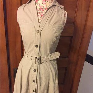 Dockers woman's small dress linen cotton blend